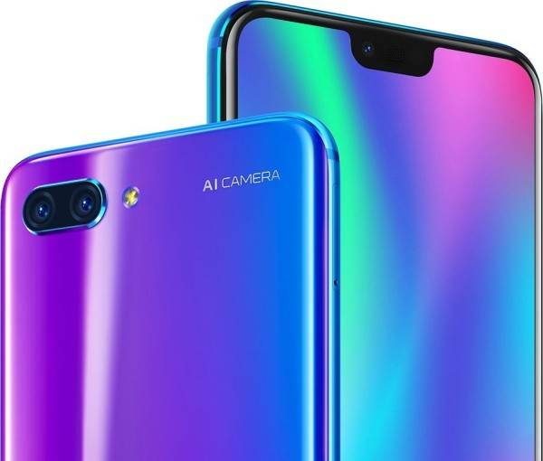 Huawei Honor 10 красивый смартфон с интеллектуальными камерами