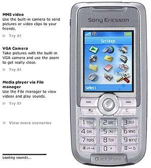Протестируй телефоны Sony Ericsson K700 и Z1010 в онлайне! - Мир ...