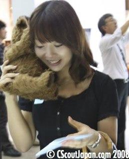 В Японии выпущен телефон в виде плюшевого медведя.