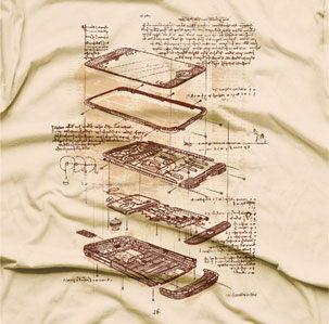 Это идея того, как бы выглядел проект iPhone, если бы разработкой этого гаджета занимался великий Леонардо да Винчи.