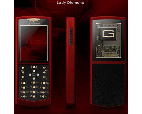 Gresso lady diamond люксовый телефон для дам