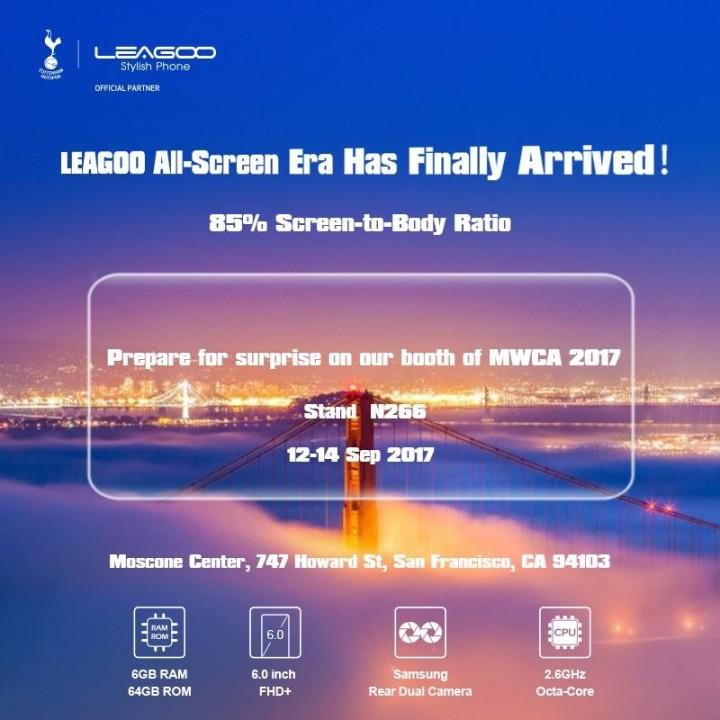 Leagoo представит полноэкранный смартфон на передовом железе
