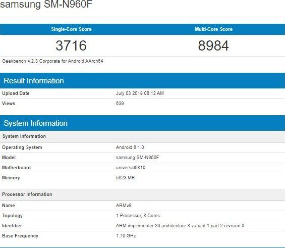 Рассекречен дизайн Galaxy Note 9: в Сети опубликованы первые фото